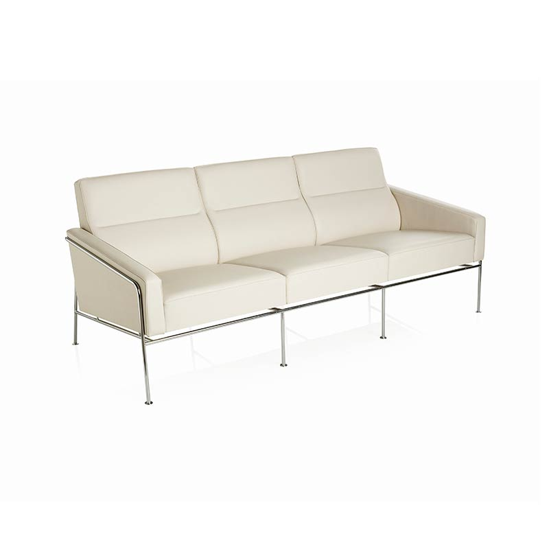 Fritz Hansen Series 3300 Three Seat Sofa by Arne Jacobsen Olson and Baker - Designer & Contemporary Sofas, Furniture - Olson and Baker showcases original designs from authentic, designer brands. Buy contemporary furniture, lighting, storage, sofas & chairs at Olson + Baker.