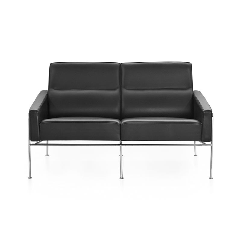Fritz Hansen Series 3300 Two Seat Sofa by Arne Jacobsen Olson and Baker - Designer & Contemporary Sofas, Furniture - Olson and Baker showcases original designs from authentic, designer brands. Buy contemporary furniture, lighting, storage, sofas & chairs at Olson + Baker.