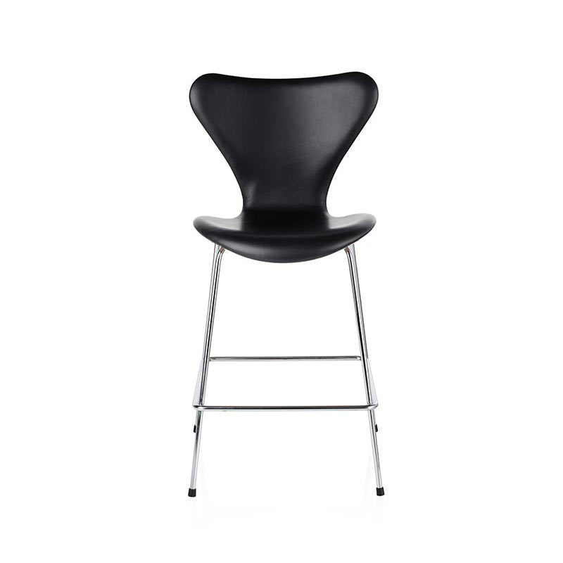 Fritz Hansen Series 7 Fully Upholstered Counter Stool by Arne Jacobsen