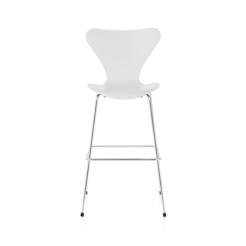 Fritz Hansen Series 7 High Bar Stool by Arne Jacobsen