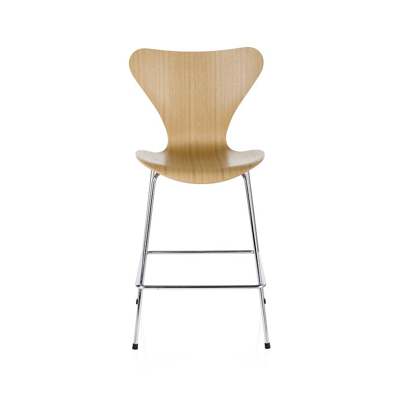 Fritz Hansen Series 7 Counter Stool by Arne Jacobsen