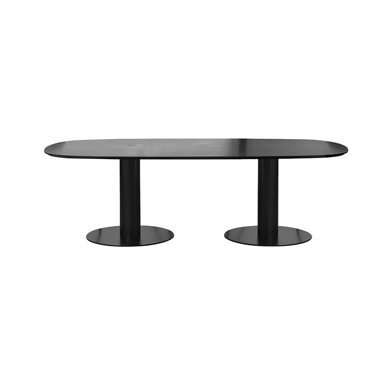 Gubi 2.0 Elliptical 100x240cm Dining Table by Komplot Design Olson and Baker - Designer & Contemporary Sofas, Furniture - Olson and Baker showcases original designs from authentic, designer brands. Buy contemporary furniture, lighting, storage, sofas & chairs at Olson + Baker.