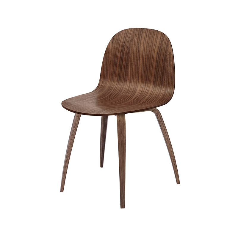 Gubi 2D Dining Chair by Komplot Design Olson and Baker - Designer & Contemporary Sofas, Furniture - Olson and Baker showcases original designs from authentic, designer brands. Buy contemporary furniture, lighting, storage, sofas & chairs at Olson + Baker.