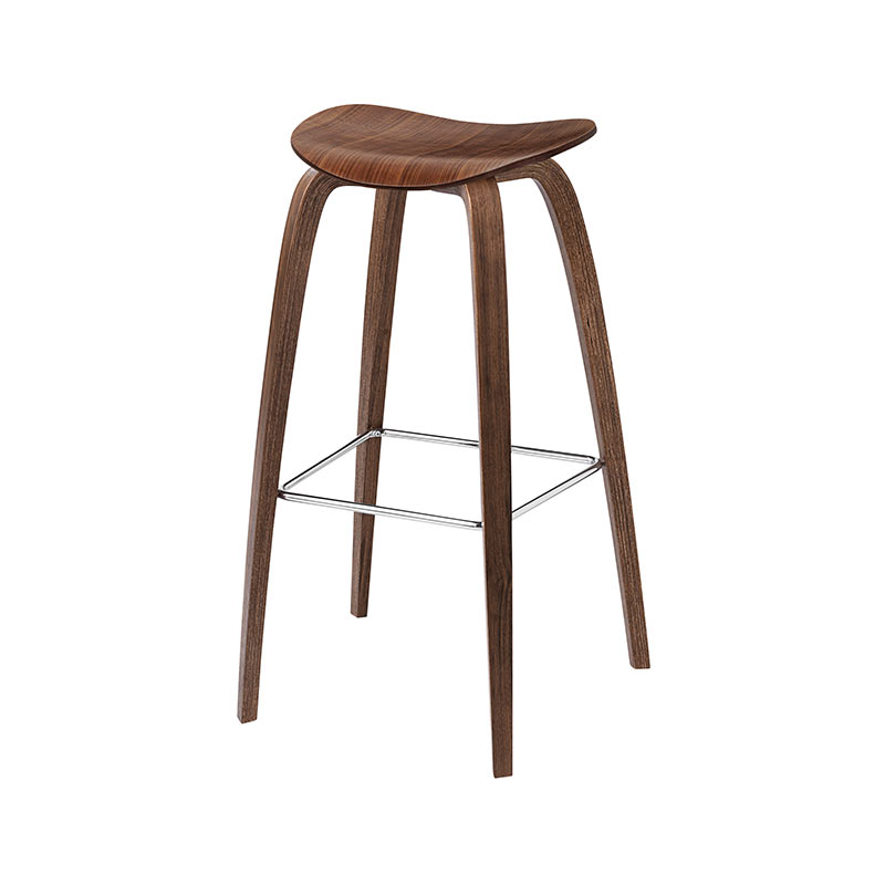 Gubi 2D High Bar Stool by Komplot Design Olson and Baker - Designer & Contemporary Sofas, Furniture - Olson and Baker showcases original designs from authentic, designer brands. Buy contemporary furniture, lighting, storage, sofas & chairs at Olson + Baker.