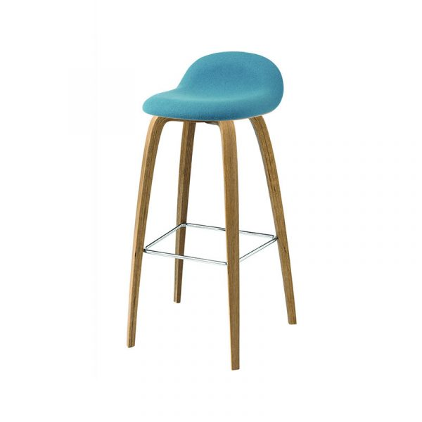 Gubi 3D Front Upholstered High Bar Stool by Komplot Design Olson and Baker - Designer & Contemporary Sofas, Furniture - Olson and Baker showcases original designs from authentic, designer brands. Buy contemporary furniture, lighting, storage, sofas & chairs at Olson + Baker.
