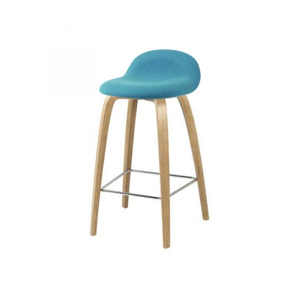 Gubi 3D Front Upholstered Counter Stool by Komplot Design Olson and Baker - Designer & Contemporary Sofas, Furniture - Olson and Baker showcases original designs from authentic, designer brands. Buy contemporary furniture, lighting, storage, sofas & chairs at Olson + Baker.