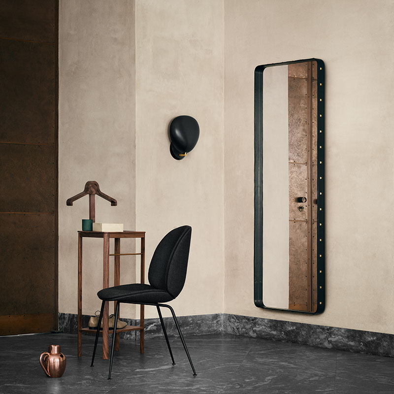 Gubi-Adnet-Rectangular-Wall-Mirror-by-Jacques-Adnet-2 Olson and Baker - Designer & Contemporary Sofas, Furniture - Olson and Baker showcases original designs from authentic, designer brands. Buy contemporary furniture, lighting, storage, sofas & chairs at Olson + Baker.