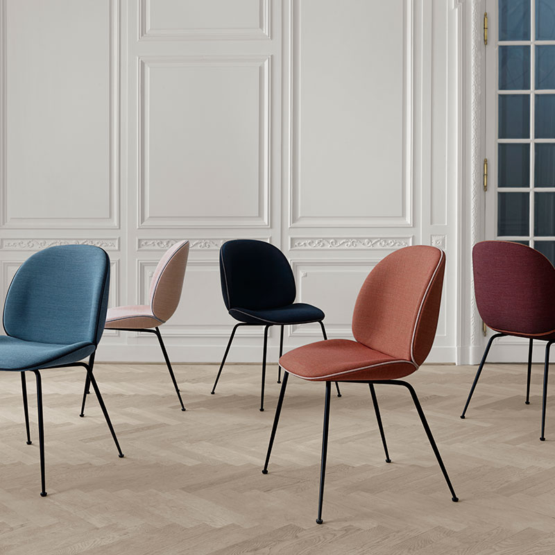 Gubi-Beetle-Dining-Chair-by-GamFratesi-1 Olson and Baker - Designer & Contemporary Sofas, Furniture - Olson and Baker showcases original designs from authentic, designer brands. Buy contemporary furniture, lighting, storage, sofas & chairs at Olson + Baker.