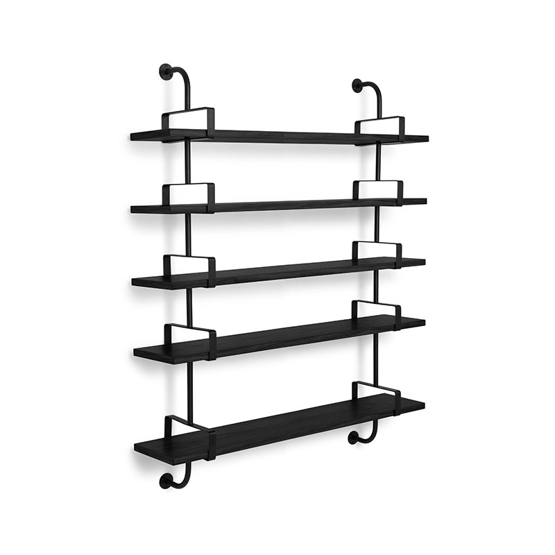 Gubi Demon Five Rack Shelf by Mathieu Mategot Olson and Baker - Designer & Contemporary Sofas, Furniture - Olson and Baker showcases original designs from authentic, designer brands. Buy contemporary furniture, lighting, storage, sofas & chairs at Olson + Baker.