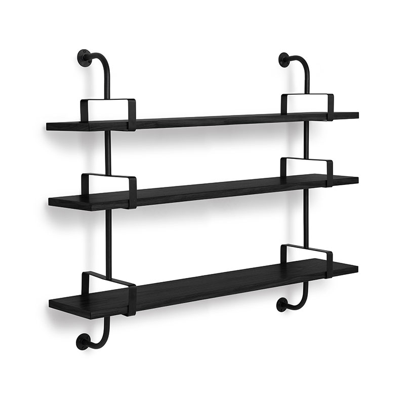 Gubi Demon Three Rack Shelf by Mathieu Mategot Olson and Baker - Designer & Contemporary Sofas, Furniture - Olson and Baker showcases original designs from authentic, designer brands. Buy contemporary furniture, lighting, storage, sofas & chairs at Olson + Baker.