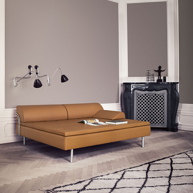 Gubi-Diva-Day-Bed-by-Gubi-Olsen-1 Olson and Baker - Designer & Contemporary Sofas, Furniture - Olson and Baker showcases original designs from authentic, designer brands. Buy contemporary furniture, lighting, storage, sofas & chairs at Olson + Baker.