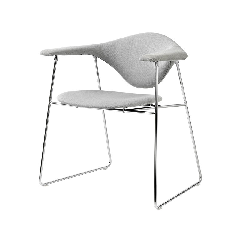 Gubi Masculo Dining Chair with Sled Base by GamFratesi