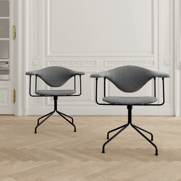 Masculo Dining Chair with Swivel Base