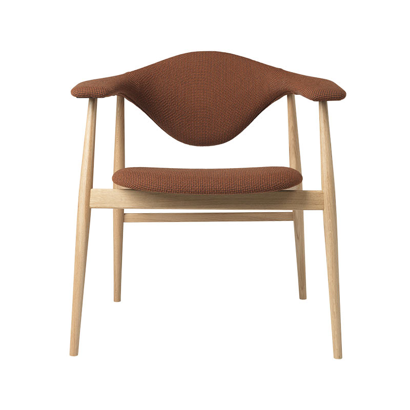 Gubi Masculo Dining Chair with Wooden Base by GamFratesi (2) Olson and Baker - Designer & Contemporary Sofas, Furniture - Olson and Baker showcases original designs from authentic, designer brands. Buy contemporary furniture, lighting, storage, sofas & chairs at Olson + Baker.
