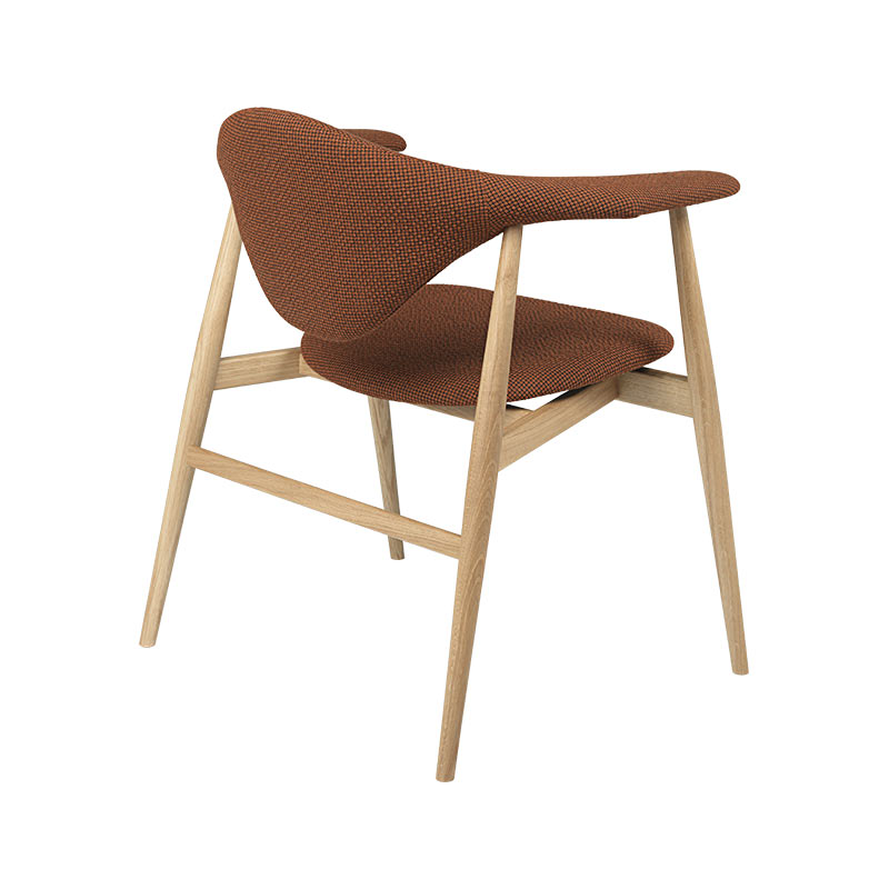 Gubi Masculo Dining Chair with Wooden Base by GamFratesi (3) Olson and Baker - Designer & Contemporary Sofas, Furniture - Olson and Baker showcases original designs from authentic, designer brands. Buy contemporary furniture, lighting, storage, sofas & chairs at Olson + Baker.