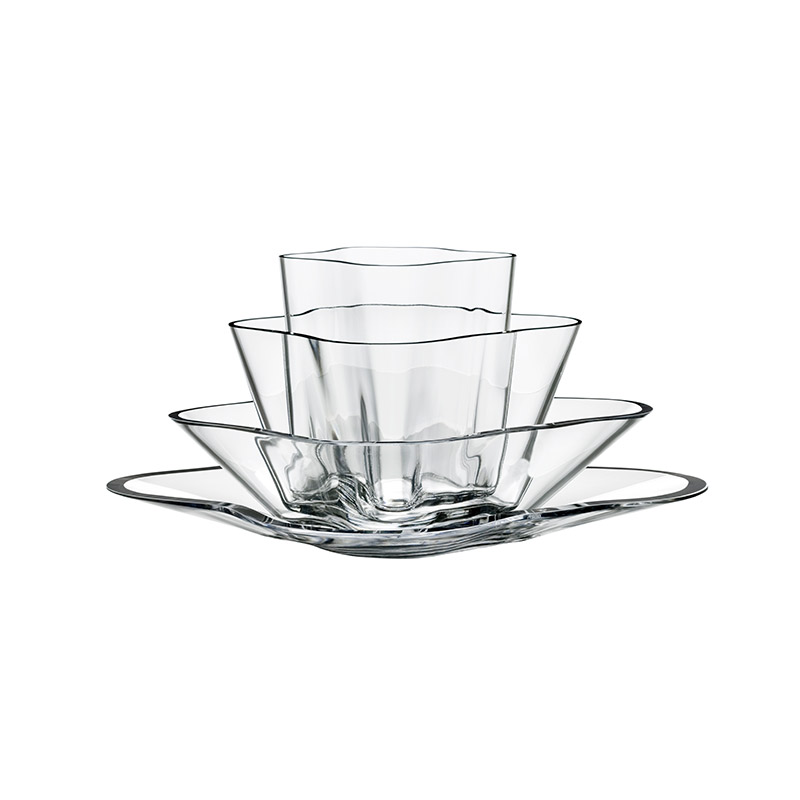 Iittala Aalto 180 x 360mm Flower Bowl Set by Alvar Aalto Olson and Baker - Designer & Contemporary Sofas, Furniture - Olson and Baker showcases original designs from authentic, designer brands. Buy contemporary furniture, lighting, storage, sofas & chairs at Olson + Baker.