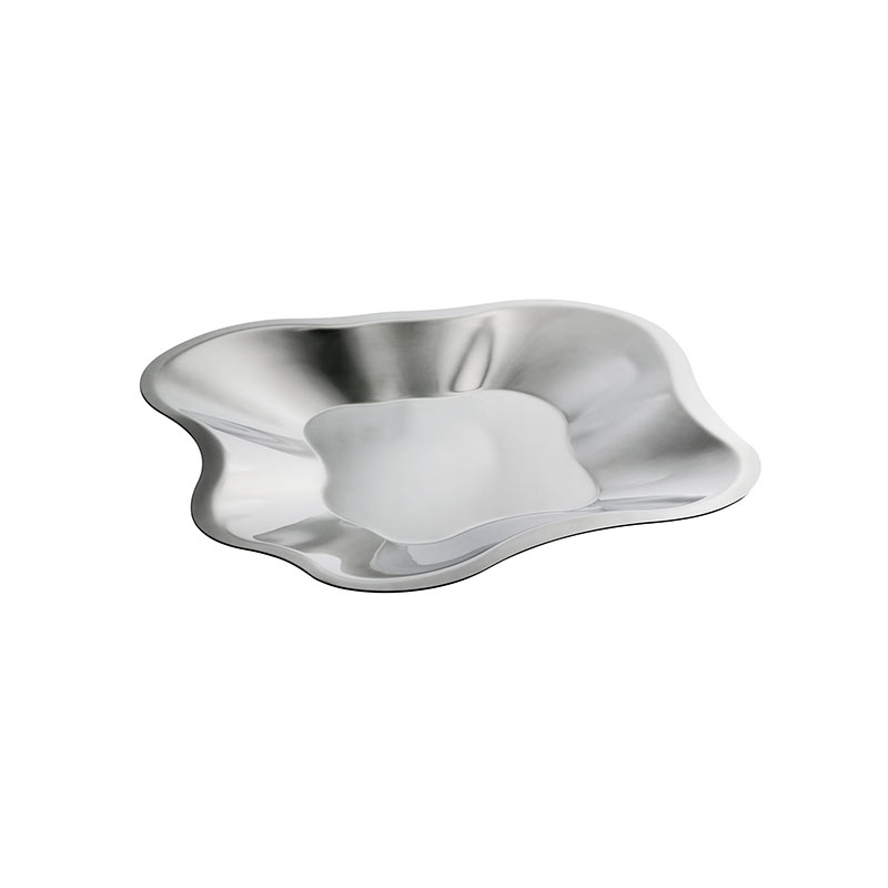 Iittala Aalto 358mm Stainless Steel Bowl by Alvar Aalto Olson and Baker - Designer & Contemporary Sofas, Furniture - Olson and Baker showcases original designs from authentic, designer brands. Buy contemporary furniture, lighting, storage, sofas & chairs at Olson + Baker.