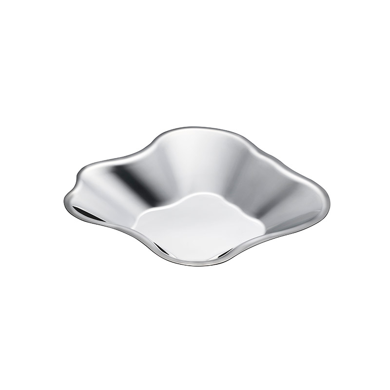 Iittala Aalto 60 x 358mm Stainless Steel Bowl by Alvar Aalto Olson and Baker - Designer & Contemporary Sofas, Furniture - Olson and Baker showcases original designs from authentic, designer brands. Buy contemporary furniture, lighting, storage, sofas & chairs at Olson + Baker.