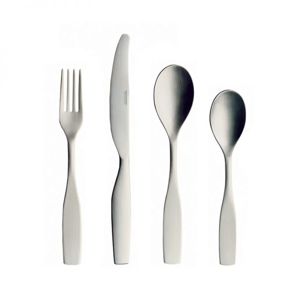 Iittala Citterio 98 Matt Brushed Steel 24 Piece Cutlery Set by Antonio Citterio, Glen Oliver Löw Olson and Baker - Designer & Contemporary Sofas, Furniture - Olson and Baker showcases original designs from authentic, designer brands. Buy contemporary furniture, lighting, storage, sofas & chairs at Olson + Baker.
