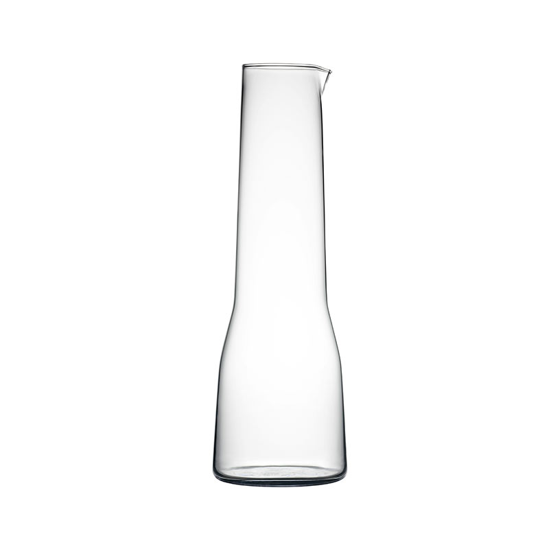 Iittala Essence 1.0L Glass Carafe by Alfredo Häberli Olson and Baker - Designer & Contemporary Sofas, Furniture - Olson and Baker showcases original designs from authentic, designer brands. Buy contemporary furniture, lighting, storage, sofas & chairs at Olson + Baker.