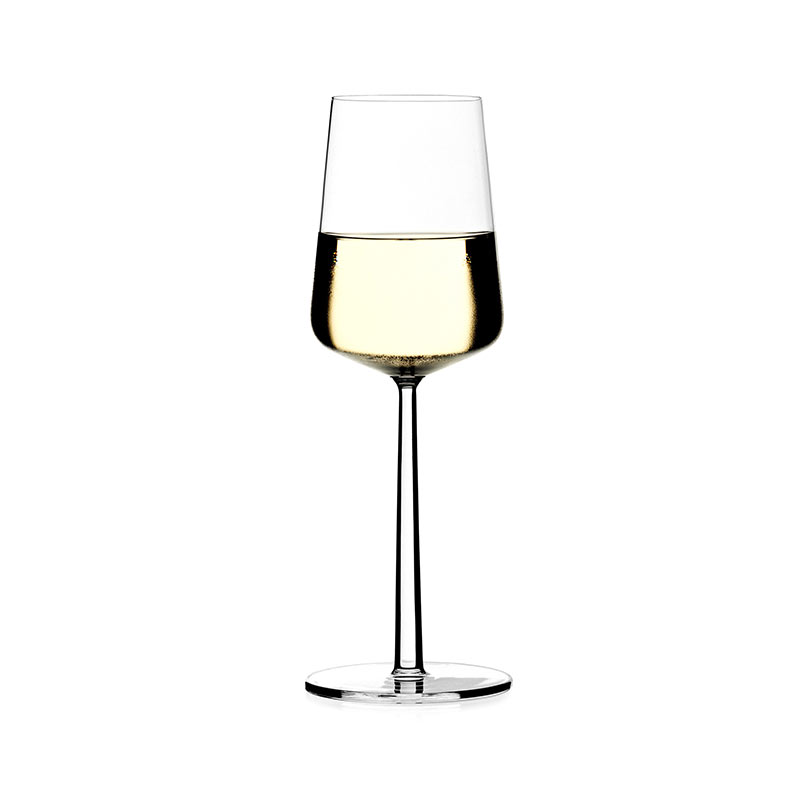 Iittala-Essence-330ml-White-Wine-Glass-Set-of-Four-by-Alfredo-Häberli-1 Olson and Baker - Designer & Contemporary Sofas, Furniture - Olson and Baker showcases original designs from authentic, designer brands. Buy contemporary furniture, lighting, storage, sofas & chairs at Olson + Baker.