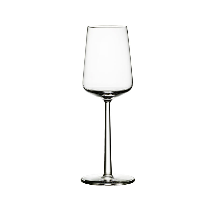 Iittala Essence 330ml White Wine Glass - Set of Four by Alfredo Häberli Olson and Baker - Designer & Contemporary Sofas, Furniture - Olson and Baker showcases original designs from authentic, designer brands. Buy contemporary furniture, lighting, storage, sofas & chairs at Olson + Baker.