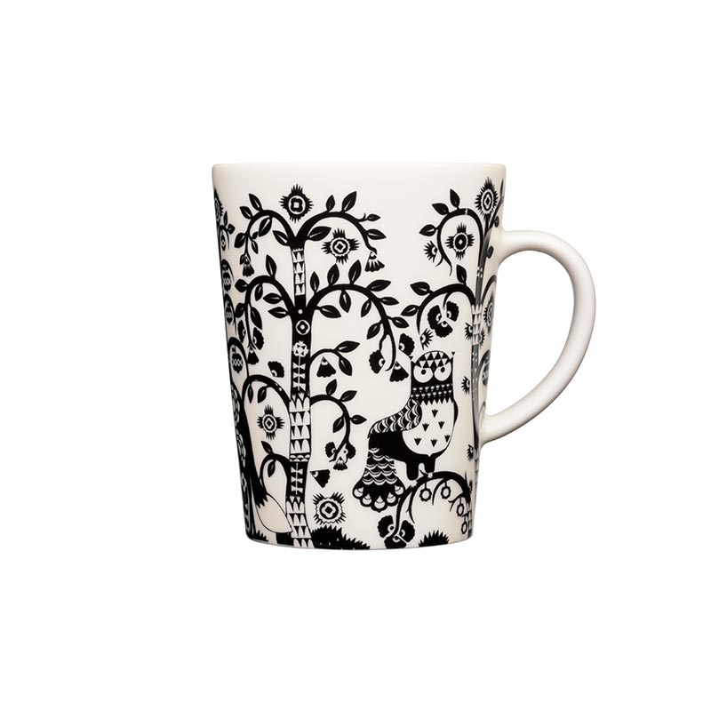 Iittala Taika Black Mug 0.4L – Set of Two by Klaus Haapaniemi Olson and Baker - Designer & Contemporary Sofas, Furniture - Olson and Baker showcases original designs from authentic, designer brands. Buy contemporary furniture, lighting, storage, sofas & chairs at Olson + Baker.