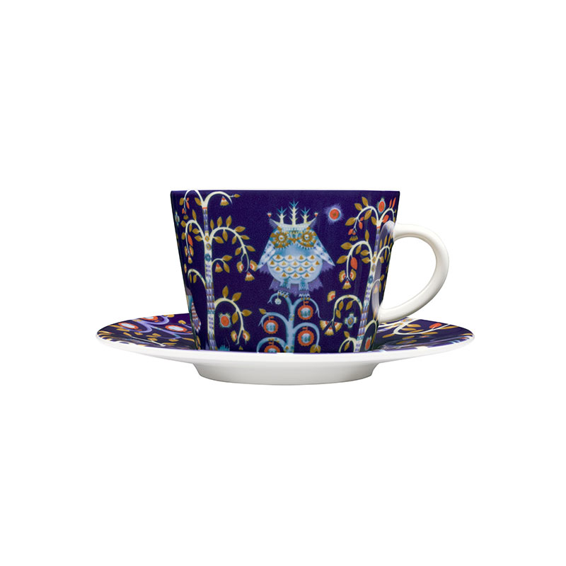 Iittala Taika Blue Cappuccino Cup 0.2L & Saucer – Set of Two by Klaus Haapaniemi Olson and Baker - Designer & Contemporary Sofas, Furniture - Olson and Baker showcases original designs from authentic, designer brands. Buy contemporary furniture, lighting, storage, sofas & chairs at Olson + Baker.