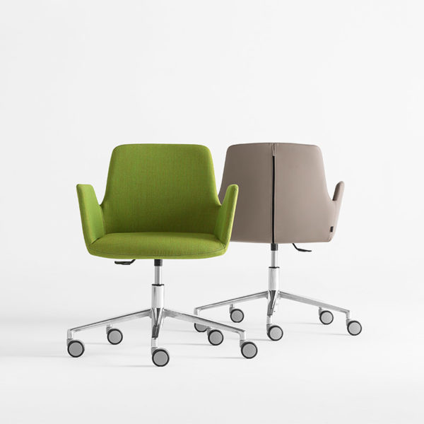 Altea Armchair with Swivel Base on Castors