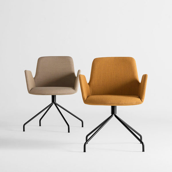 Altea Armchair with Trestle Swivel Base
