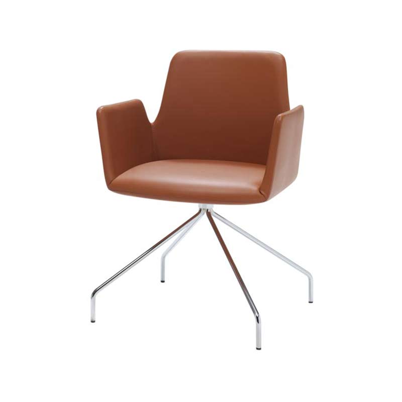 Inclass Altea Armchair with Trestle Swivel Base by Jorge Pensi