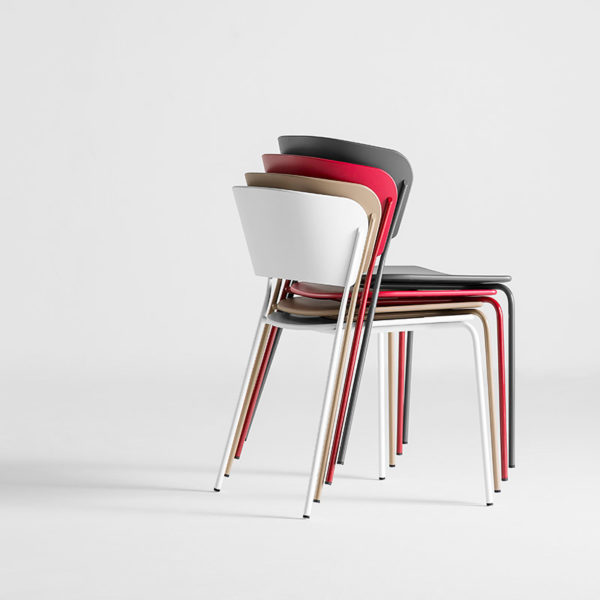 Arc Chair with Four Leg Base