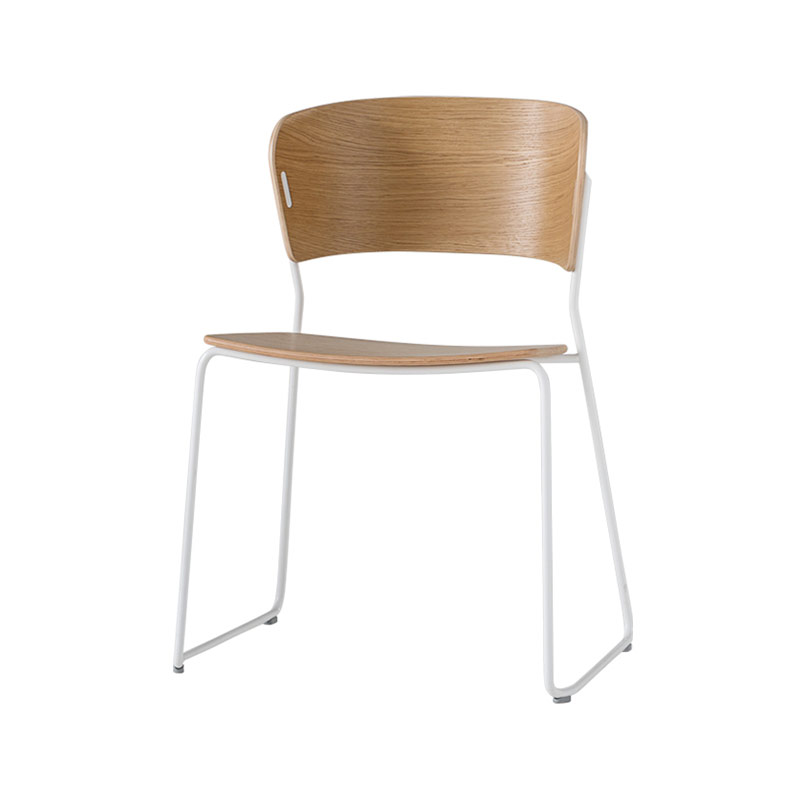 Inclass Arc Chair with Sled Base by Yonoh