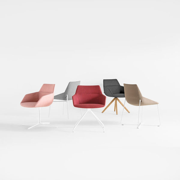 Dunas XS Armchair with Flat Swivel Base