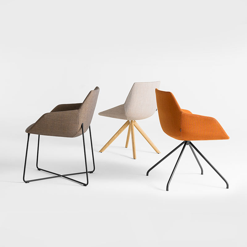 Inclass-Dunas-XS-Armchair-with-Trestle-Swivel-Base-by-Christophe-Pillet-1 Olson and Baker - Designer & Contemporary Sofas, Furniture - Olson and Baker showcases original designs from authentic, designer brands. Buy contemporary furniture, lighting, storage, sofas & chairs at Olson + Baker.