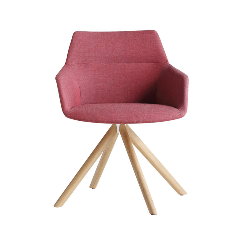 Inclass Dunas XS Armchair with Wooden Swivel Base by Christophe Pillet