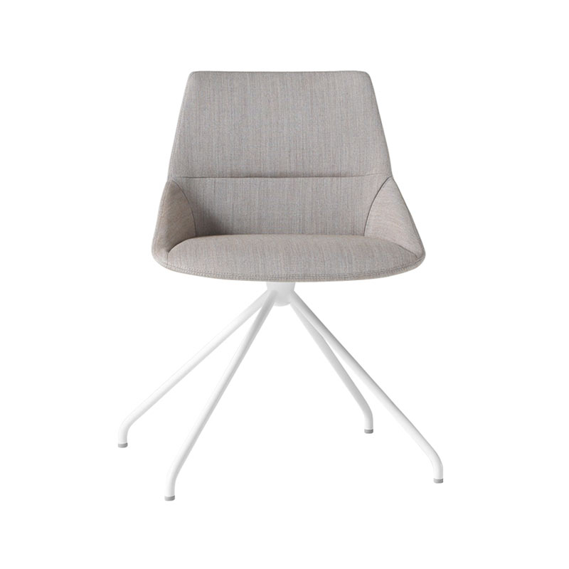 Inclass Dunas XS Chair with Trestle Swivel Base by Christophe Pillet Olson and Baker - Designer & Contemporary Sofas, Furniture - Olson and Baker showcases original designs from authentic, designer brands. Buy contemporary furniture, lighting, storage, sofas & chairs at Olson + Baker.