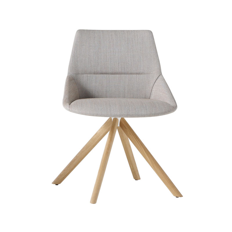 Inclass Dunas XS Chair with Wooden Swivel Base by Christophe Pillet Olson and Baker - Designer & Contemporary Sofas, Furniture - Olson and Baker showcases original designs from authentic, designer brands. Buy contemporary furniture, lighting, storage, sofas & chairs at Olson + Baker.