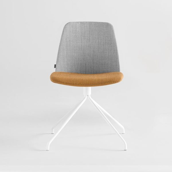 Unnia Upholstered Chair with Trestle Swivel Base