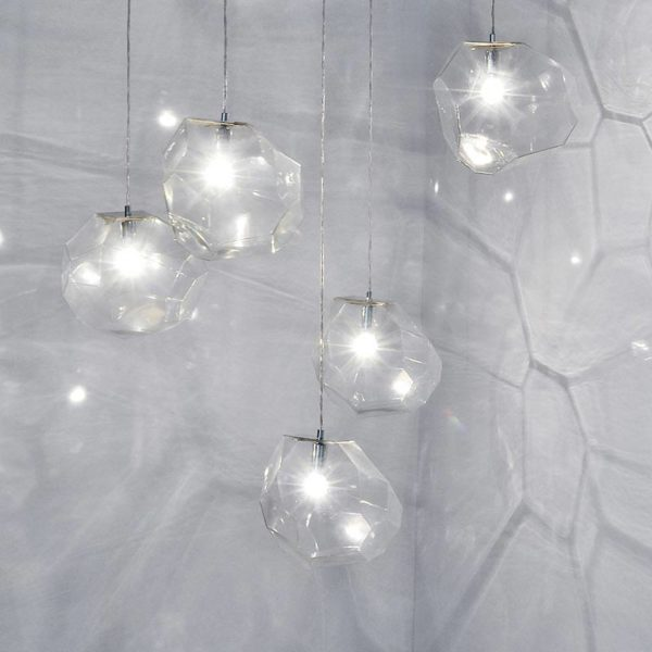 Asteroid Glass Pendant Light