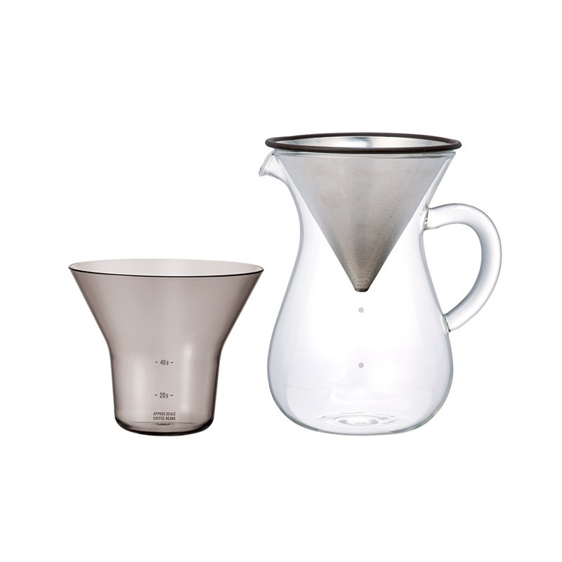 Kinto SCS Coffee Carafe Set by Noriyuki Shirasu, Akiko Shirasu, Toru Sato Olson and Baker - Designer & Contemporary Sofas, Furniture - Olson and Baker showcases original designs from authentic, designer brands. Buy contemporary furniture, lighting, storage, sofas & chairs at Olson + Baker.