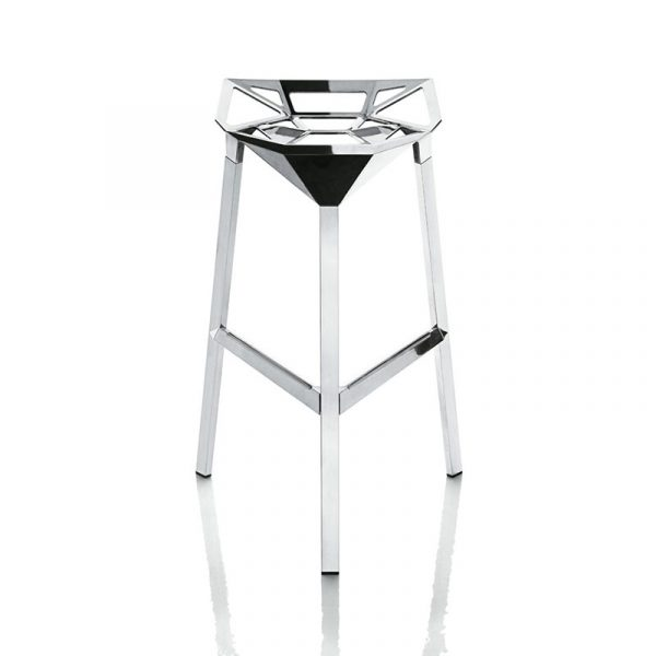 Magis Stool One Polished High Bar Stool by Konstantin Grcic Olson and Baker - Designer & Contemporary Sofas, Furniture - Olson and Baker showcases original designs from authentic, designer brands. Buy contemporary furniture, lighting, storage, sofas & chairs at Olson + Baker.