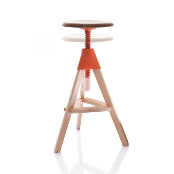 Magis Tom & Jerry Adjustable Bar Stool - Wild Bunch by Konstantin Grcic Olson and Baker - Designer & Contemporary Sofas, Furniture - Olson and Baker showcases original designs from authentic, designer brands. Buy contemporary furniture, lighting, storage, sofas & chairs at Olson + Baker.