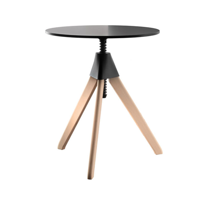 Magis Topsy Ø60cm Adjustable Table - Wild Bunch by Konstantin Grcic Olson and Baker - Designer & Contemporary Sofas, Furniture - Olson and Baker showcases original designs from authentic, designer brands. Buy contemporary furniture, lighting, storage, sofas & chairs at Olson + Baker.