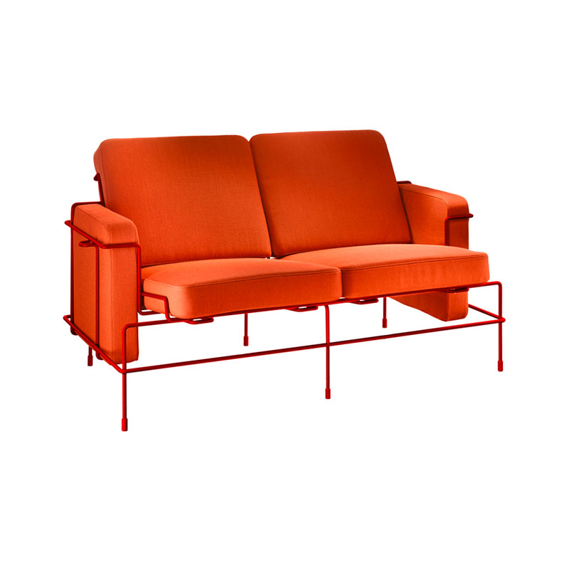 Magis Traffic Two Seat Sofa by Konstantin Grcic Olson and Baker - Designer & Contemporary Sofas, Furniture - Olson and Baker showcases original designs from authentic, designer brands. Buy contemporary furniture, lighting, storage, sofas & chairs at Olson + Baker.