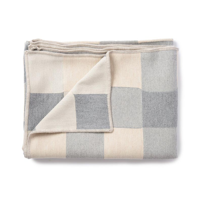 Tori Murphy Woodhouse Check Throw Grey by Tori Murphy