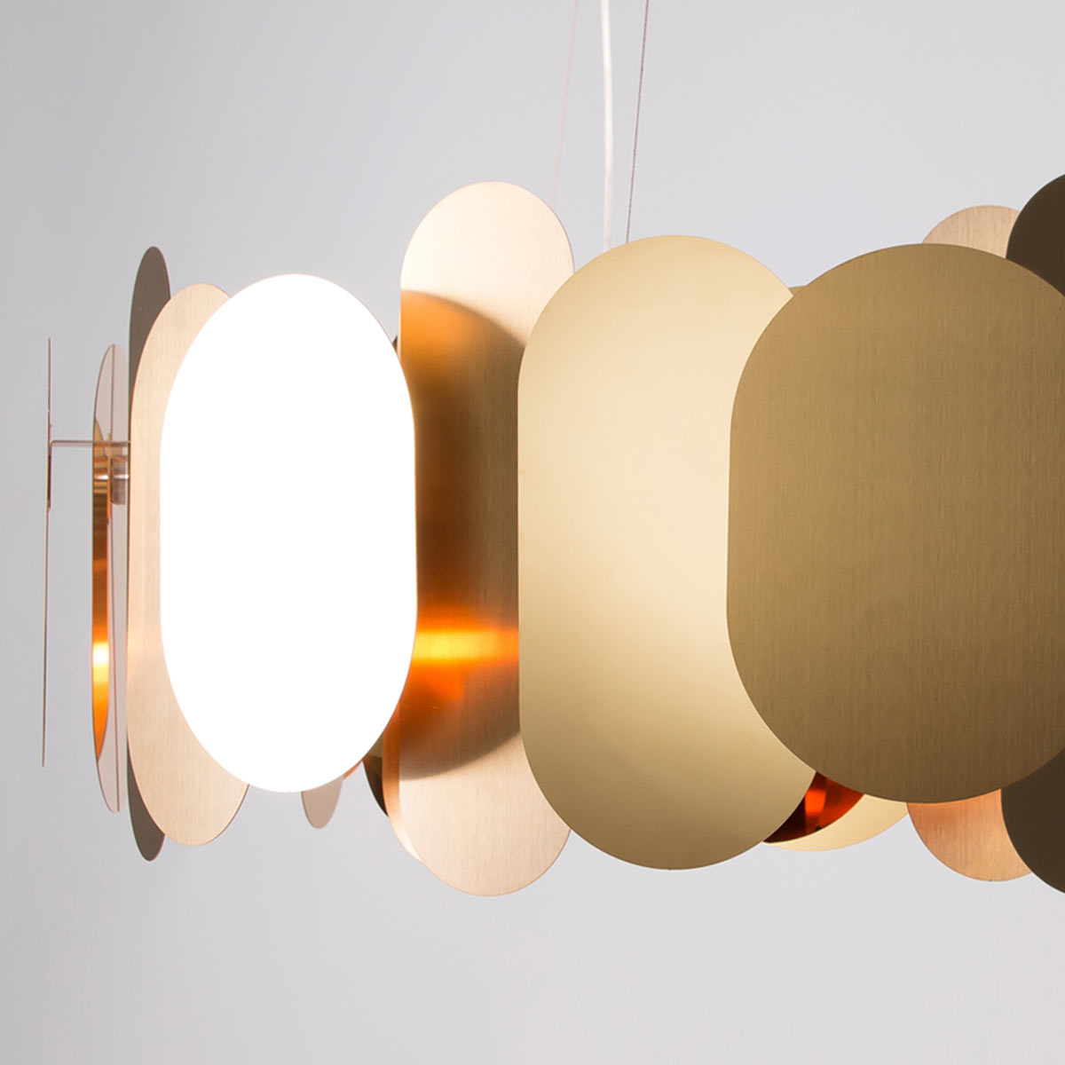 Innermost Panel Chandelier by Steve Jones Olson and Baker - Designer & Contemporary Sofas, Furniture - Olson and Baker showcases original designs from authentic, designer brands. Buy contemporary furniture, lighting, storage, sofas & chairs at Olson + Baker.