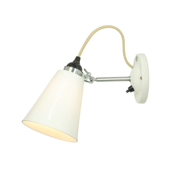 Original BTC Hector Medium Flowerpot Switched Wall Light by Original BTC Olson and Baker - Designer & Contemporary Sofas, Furniture - Olson and Baker showcases original designs from authentic, designer brands. Buy contemporary furniture, lighting, storage, sofas & chairs at Olson + Baker.
