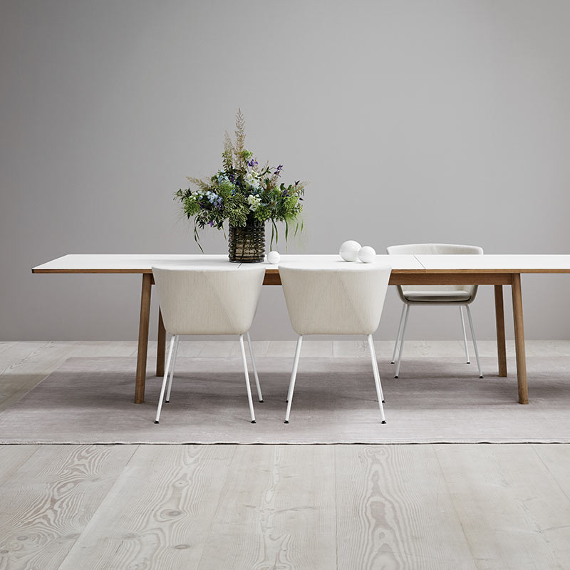 Fredericia Ana 95x230-320cm Extendable Dining Table by Arde 7 Olson and Baker - Designer & Contemporary Sofas, Furniture - Olson and Baker showcases original designs from authentic, designer brands. Buy contemporary furniture, lighting, storage, sofas & chairs at Olson + Baker.