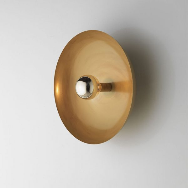 Cropi Wall Lamp in Aged Gold Set of Two